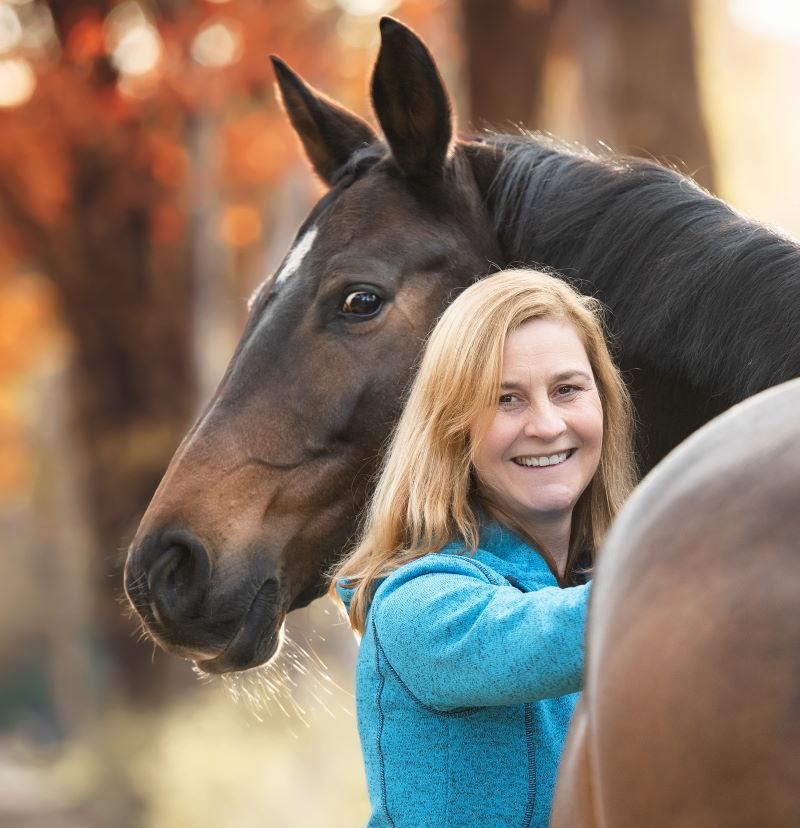 Mentaltraining für Reiter - Petra Graak mit Pferd Smilla