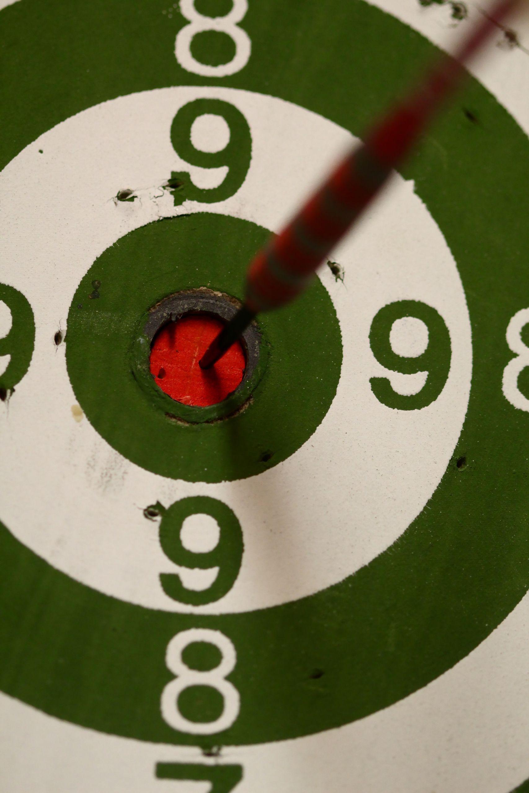 Zielscheibe als Sinnbild für Zielorientierung
